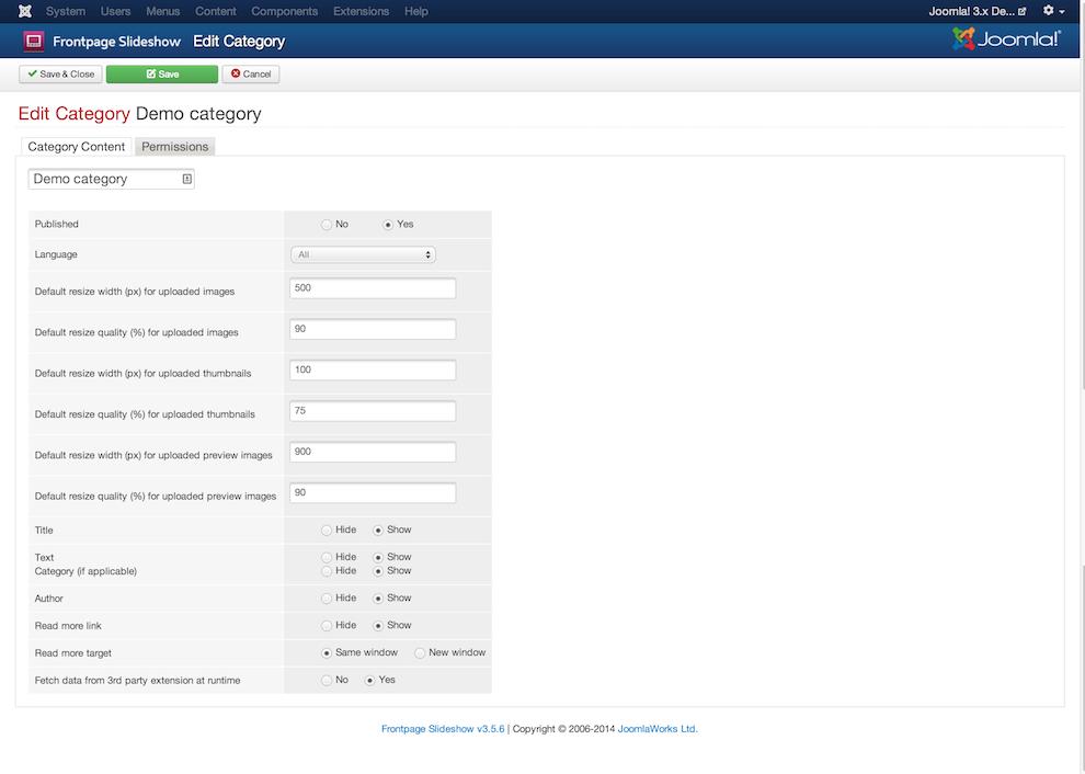 Frontpage SlideShow - JoomlaWorks