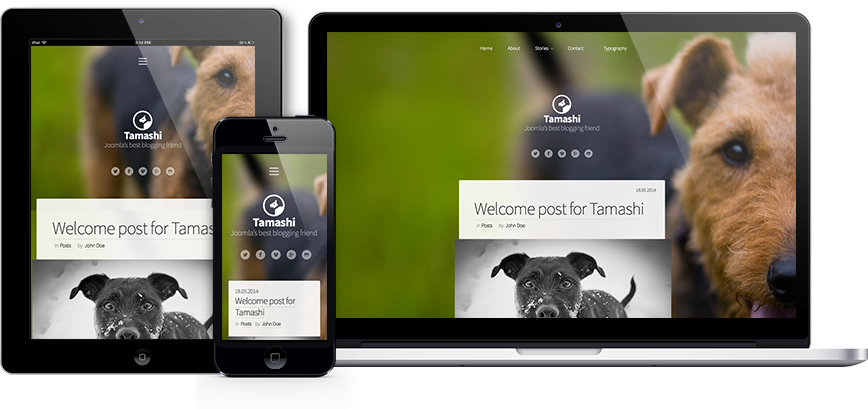 Mobile and tablet friendly design