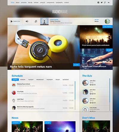 RadioWave - JoomlaWorks