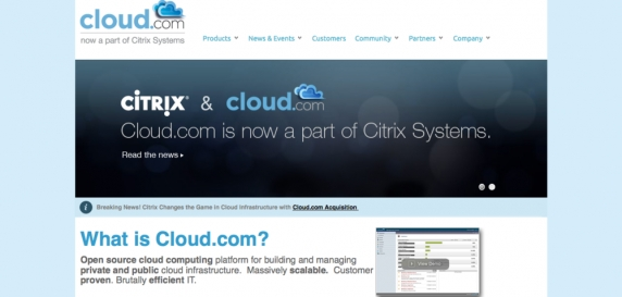 Cloud.com, recently acquired by Citrix for $250m is running on Joomla! & K2