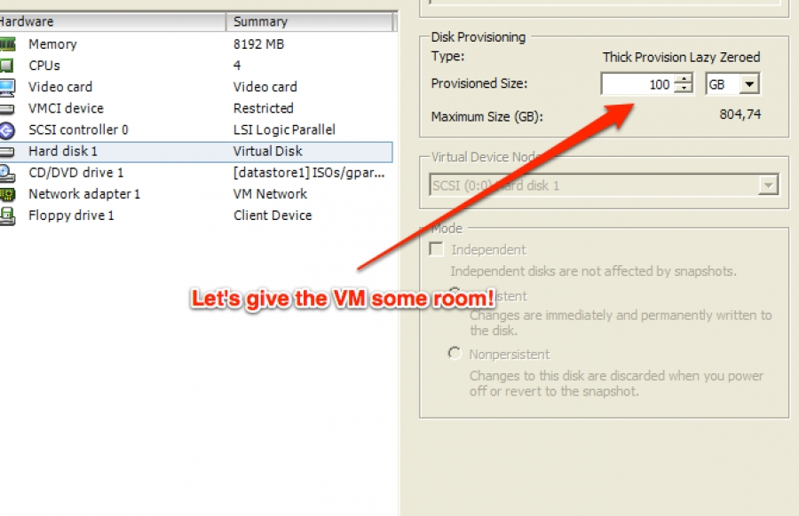 Resizing the disk space on Ubuntu Server VMs running on