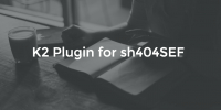 K2 Plugin for sh404SEF version 1.6.0 released