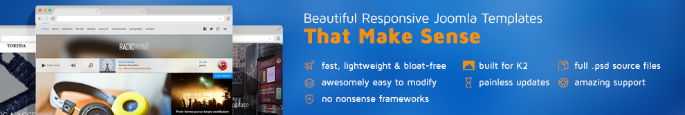 Premium & Free Responsive Joomla Templates that make sense
